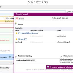 Small square rel odoslanie mailu zo spisu